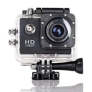CS720 1080P Sports HD Kamera wasserdichte Tatigkeits Kamera 170 Grad Weitwinkel Auto Recorder DV Tauchen Action Kamera (Black)