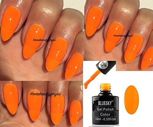 BLUESKY Neon 29leuchtendes Orange Nagellack-Gel UV-LED-Soak Off 10ml plus 2homebeautyforyou...