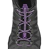 Nathan Reflektierende Lock Schnürsenkel, Elastic keine Schnürsenkel binden für Running und Active Sports, 1171, Purple Magic