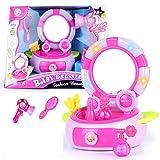 ZMH Fille Bijoux Dressing Maquillage Jouet Enfants Simulation Coiffure Set Lumière Music Flash Box, 2-3-5 Enfant Cadeau...