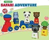 Tutor Blocks Magnetbausteine Serie 201 Safari Abenteuer Kleinkind Lernbausteine Babyspielzeug Motorikspielzeug ab 6 Monate