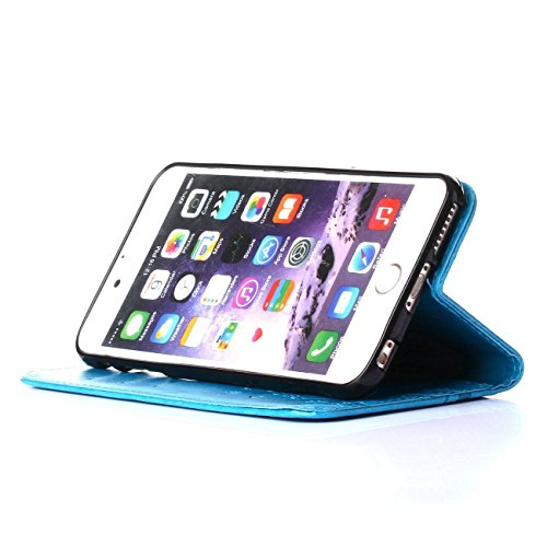 ARTLU® iphone 4s Hülle Blume Premium PU Leder Schutzhülle für iphone 4s Bookstyle Tasche Schale TPU Case mit Standfunktion Lila C2
