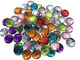 Piedras brillantes acrílicas para coser de Crystal King; multicolores, 20 mm de diámetro, forma octogonal, `para decoración