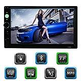 KKmoon 7Inch Double 2 Din Voiture Autoradio HD Lecteur Bluetooth DVD / CD / USB / AUX-IN / TF FM Multimédia Radio Système de Divertissement