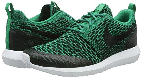 Nike Roshe NM Flyknit Se, Baskets Basses Homme, Noir (Schwarz), 38,5 EU Multicolore - Verde / Negro / Blanco (Lucid Green / Black-White)