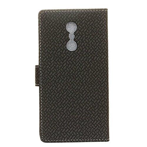 YHUISEN Lenovo K6 Nota Case, Weave Muster Magnetverschluss PU Leder Brieftasche Flip Folio Schutzhülle Abdeckung Für Lenovo K6 Nota ( Color : Pink ) Black
