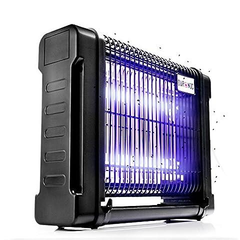 Duronic FK8412 Destructeur / piège d'insectes / mouches / moustiques avec 2 lampes ultraviolet de 6W – auto portatif ou mural