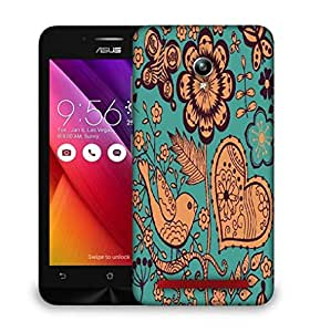 Snoogg seamless texture with flowers Designer Protective Back Case Cover For Asus Zenfone GO