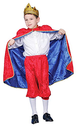 Dress Up America Deluxe rot Royal König Kostüm Set für ()