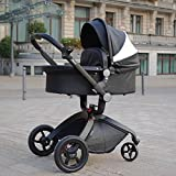 Hot Mom Limited Edition Kombikinderwagen und Buggy Sportwagen 3-in-1 Travelsystem 2016 mit Babywanne ,Schwarz - 3