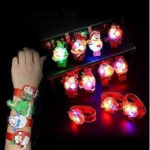 UChic 8 STÜCKE Led Uhr Spielzeug Jungen Mädchen Flash Handgelenk Band Party Weihnachtsdekoration Glow Luminous Armband Geschenke Spielzeug