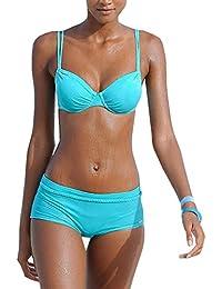 edaec755095063 OMSLIFE 2018 Bikini Damen Push Up Bademode mit Hotpants Badeanzug Beachwear Damen  Bikini-Set…