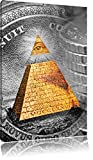 Illuminati Piramide, in bianco e nero dollaro nero / bianco, dimensione: 80x120 in alto tela angolare, XXL enormi immagini completamente Pagina con la barella, stampa d'arte sul murale con telaio, più economico di pittura o un dipinto a olio, non un manifesto o un banner,