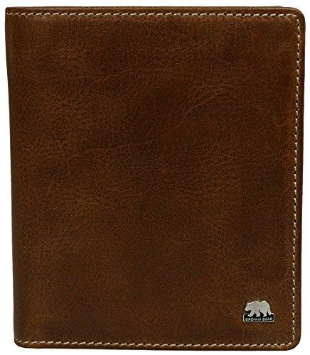 Preisvergleich Produktbild Brown Bear Geldbörse Leder vintage braun Country 3