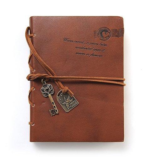 fibUNIve Zusammensetzung Notebook, Vintage Style Key Decor