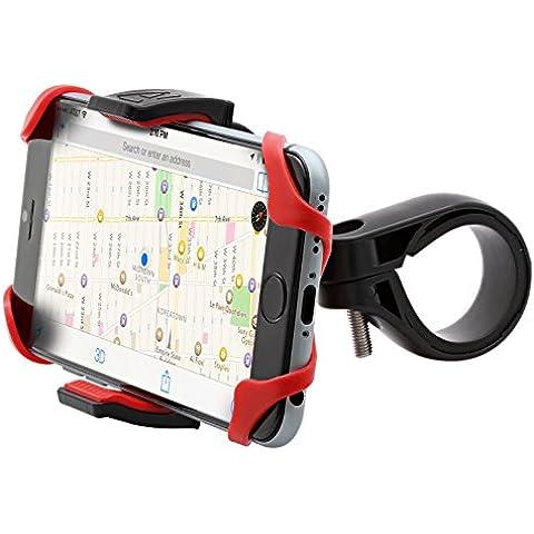 Aduro u Grip Plus Universale, per moto, bicicletta Manubrio, Roll Bar Mount per tutti gli smartphone, Apple iPhone GPS Holder