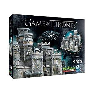 Wrebbit 3D- Castillo Game of Thrones Puzzle 3D Juego de Tronos Invernalia, Multicolor (W3D-2018) 2