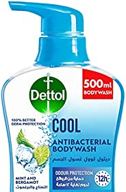 غسول جسم سائل من ديتول كوول مضاد للبكتيريا برائحة النعناع والبرغموت، 500 مل