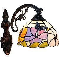 FABAKIRA Lámparas de Pared Tiffany Lamp Vintage Retro Mini Iluminación de Pared Alique para Interiores y Exteriores