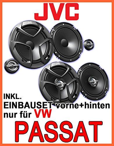 JVC Komplettset für vorne & hinten - Lautsprecher Einbauset für VW Passat 3B & 3BG - JUST SOUND best choice for caraudio