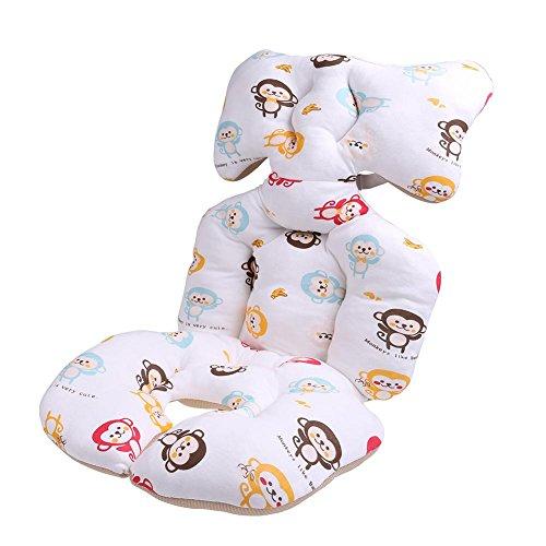 Domybest Baby Kinderwagen atmungsaktiv Baumwolle festgelegte verdickte Auflage weiche Karre Sitzkissen Kissen
