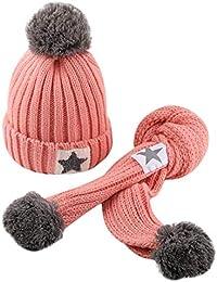 QinMM Infantil bebé Sombrero y Bufandas de Punto otoño Invierno niños niñas ...
