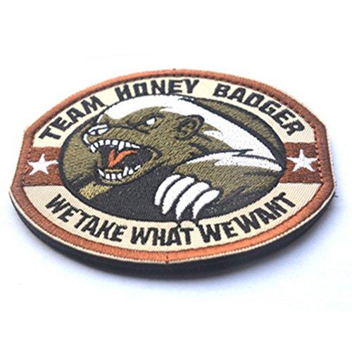 KingNew Team Honey Badger Patch Eisen nähen auf gesticktes Badge (grün) (Patch Material Eisen)