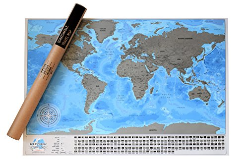 Los mejores mapamundis para comprar en 2018 33 detailed scratchable travel map with 196 country flags vibrant colours great scratchable world 2599 1750 comprar ahorahoy est rebajado 8 gumiabroncs Images