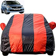 Autofact Car Body Cover for Maruti Wagon r/Wagonr (2000 to 2018) (Mirror Pocket, Premium Fabric, Triple Stiche