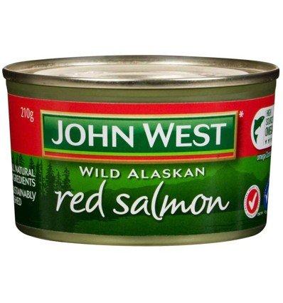 John West rot Lachs 210g -