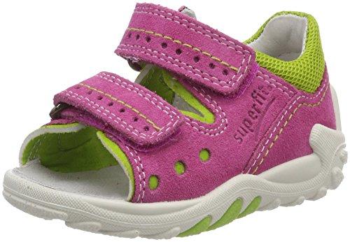 Superfit Baby Mädchen Flow Sandalen, Pink (Pink Multi), 24 EU