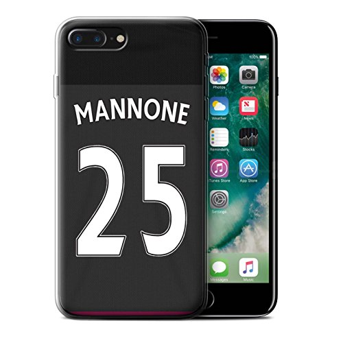 Offiziell Sunderland AFC Hülle / Gel TPU Case für Apple iPhone 7 Plus / Watmore Muster / SAFC Trikot Away 15/16 Kollektion Mannone