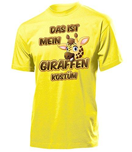 Giraffen Kostüm Herren T-Shirt Motto Party Männer 5252 Fasching Faschings Karnevals Tiere Paar Gruppen Outfit Klamotten Oberteil Gelb S