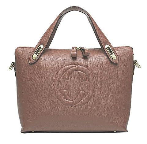 Women's 'Gucci' Designer Style Leather Bucket Tote Bag - Shopper Handbag