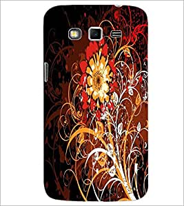 PrintDhaba Digital Flower D-2125 Back Case Cover for SAMSUNG GALAXY GRAND 2 (Multi-Coloured)