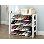 JHSNJ Wooden Shoe Storage Rack Stand 4 Tier Shoe rack iron frame Shelf Organiser Holder 50/65/82 * 21 * 68cm