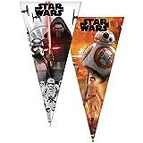 Star Wars - Pack de 6 bolsas cono, 20 x 40 cm (Verbetena 014000853)