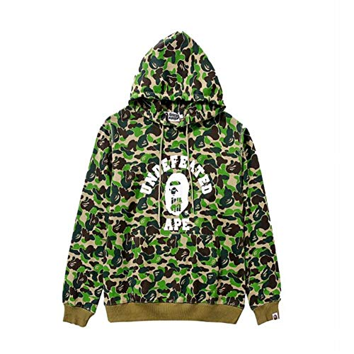 0683c71f13c Fashion Bape Printed Casual Loose Pullover Hoodie For Men Women