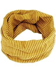 Tongshi Kid bufanda colores costura junta tórica de punto de lana de bebé de la bufanda del calentador del cuello(Amarillo)