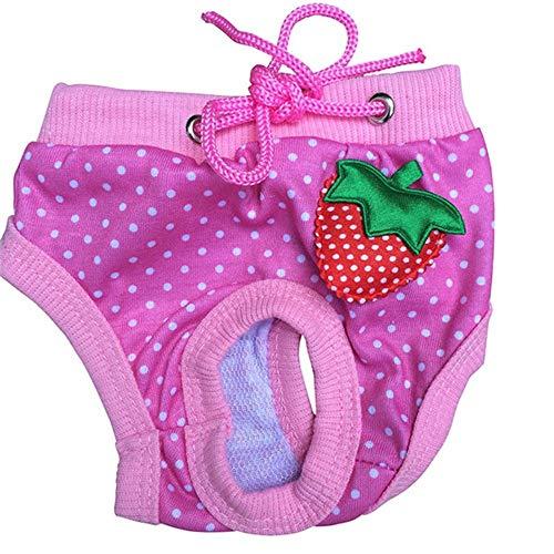 ZHONGCHENYI Pet Supplies Hundeschlüpfer Shorts Hosen Unterwäsche Hund Welpe Windel Streifen Tupfen Hygiene, L
