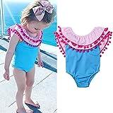 i-uend 2019 Baby-Badebekleidung - Kleinkind-Mädchen gekräuselte Quaste-Badebekleidungs-Badeanzug-Strand-Spielanzug-Kleidung für 0-3Years