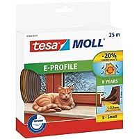 TESA 05464-00101-00 Burlete de Caucho Perfil E, 25 m x 9 mm, Color marrón