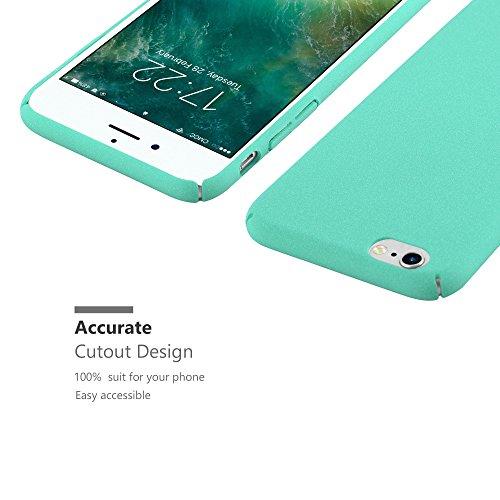 Cadorabo - Hard Cover Slim Case Mat en Design FROSTY pour Apple iPhone 6 PLUS - Housse Bumper Coque in FROSTY-ROUGE FROSTY-VERT