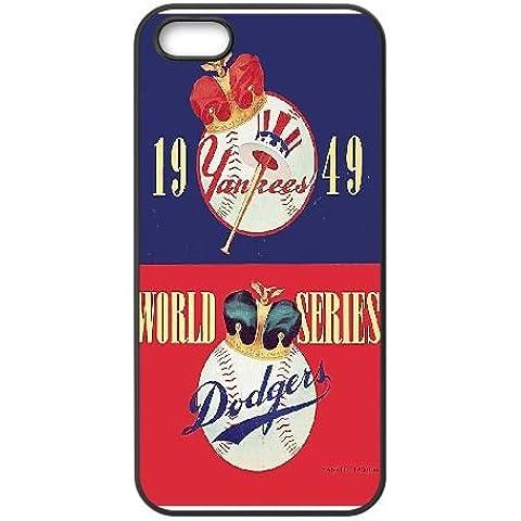 1949 World Series New York Yankees vs Dodgers de Brooklyn wlx3qj funda iphone 5 5s 5SE caja del teléfono celular Funda 88vk0k negro caja del teléfono 3d funda