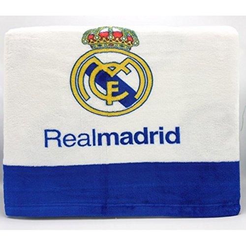 MANTEROL – Juego de Sábanas coralina Oficial REAL MADRID CF Silk Estadio 498 Cama 90
