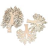 Nbeads - decorazioni a forma di albero, in legno, senza scritte, per matrimoni, Natale e lavoretti fai da te, da 125x 125x 3mm, confezione da 20 pezzi