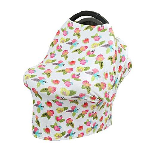 Domybest élégant doux d'allaitement allaitement Motif Poussette Siège auto Wave Rayures Imprimé Maman Confidentialité Serviette Écharpe