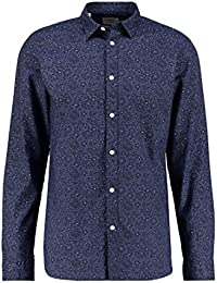 Selected Homme Herren Freizeithemd - Slim Fit Langarmshirt - Casual