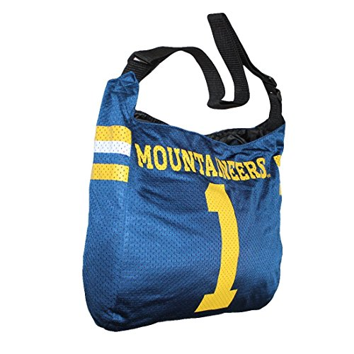 COLLECTIONNEUR ITEM: NCAA West Virginia Mountaineers Jersey Large Tote / Umhängetasche - blau