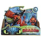 Dragons - Movie Line - 6046907 - Dragon & Vikings - Rotzbacke und Hakenzahn (Solid), Actionfiguren Drache & Wikinger, Drachenzähmen leicht gemacht 3, Die geheime Welt